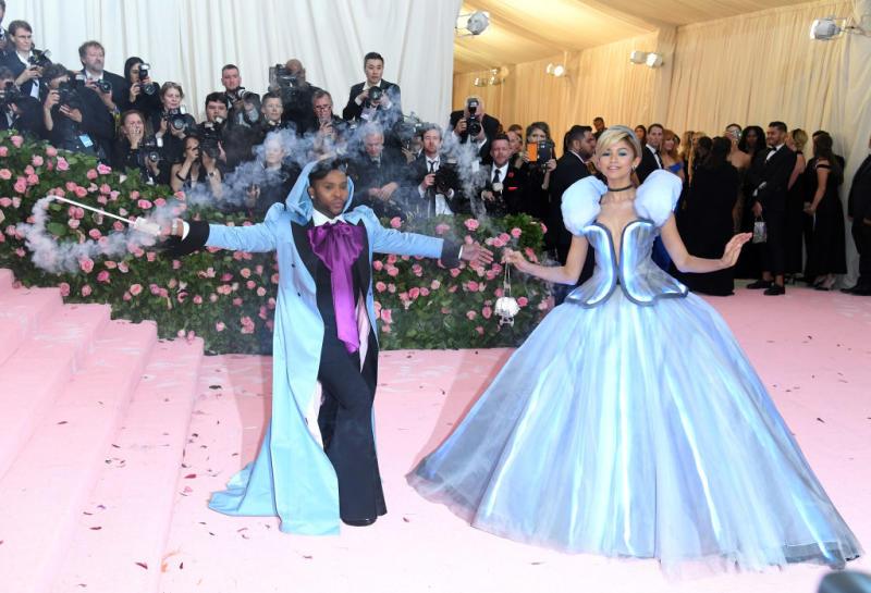 Zendaya alongside her stylist at the 2019 Met Gala [Photo: Getty]