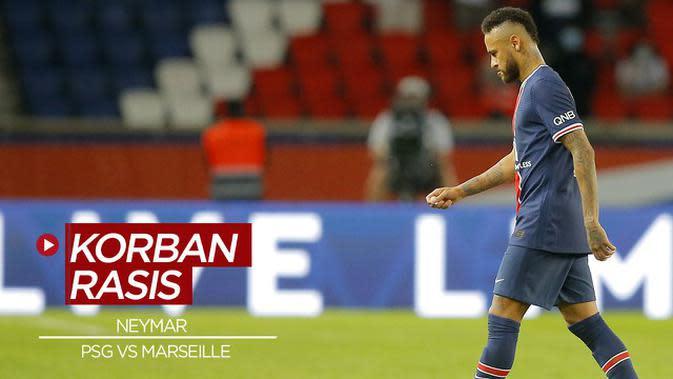 VIDEO: Jadi Korban Rasis Saat PSG Vs Marseille, Neymar Justru Terima Kartu Merah