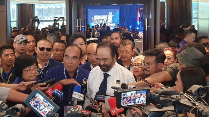 Ketua Umum Partai Nasdem Surya Paloh. (Nanda Perdana Putra/liputan6.com)