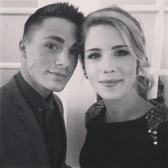 Colton Hayes and Emily Bett