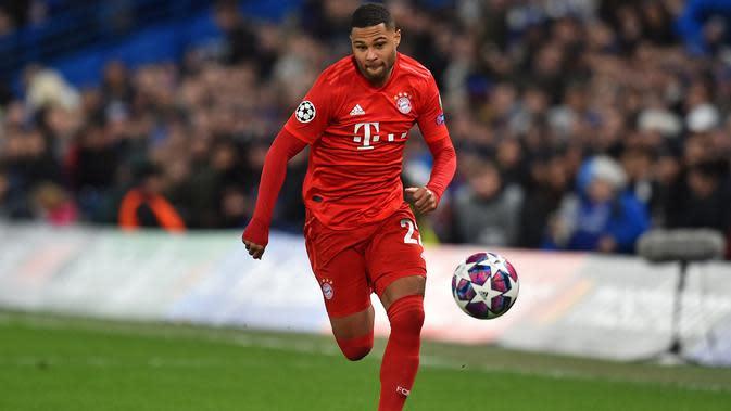 Serge Gnabry (72 juta euro) - Striker milik Bayern Munchen ini kini memiliki bandrol harga pasar transfer 72 juta euro. (AFP/Glyn Kirk)