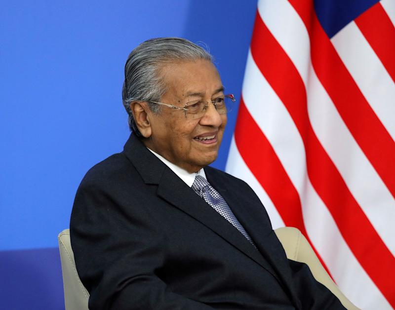 While campaigning last year, Tun Dr Mahathir Mohamad was investigated by the police under the Act for saying the flight to Langkawi he chartered on the eve of nomination day had been sabotaged. Authorities later dropped the investigation.— Reuters pic
