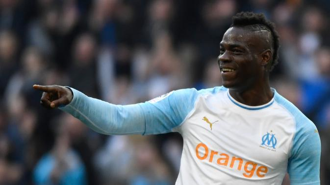 Pemain Marseille, Mario Balotelli. (AFP/Christophe Simon)