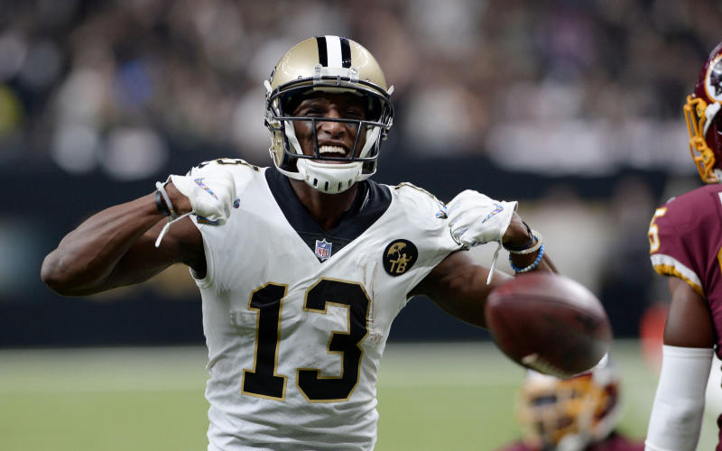 New Orleans Saints wide receiver Michael Thomas agreed to a record-breaking extension. (AP)