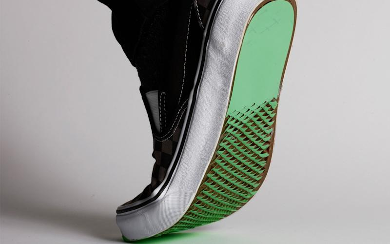 The friction-boosting material could be used to coat the bottom of shoes - Diemut Strebe