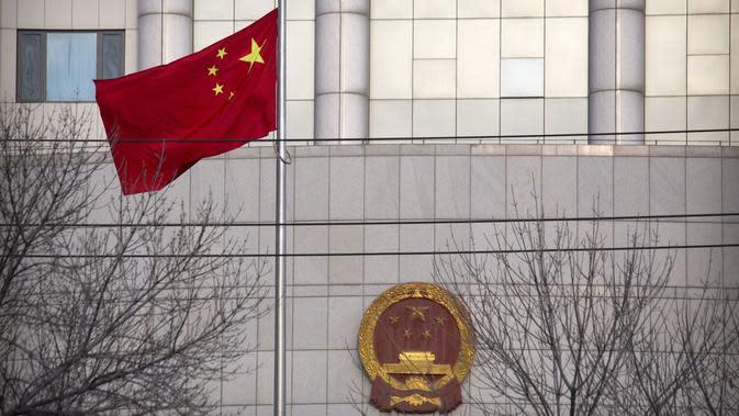Ilustrasi bendera Republik Rakyat China (AP/Mark Schiefelbein)