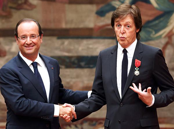 Paul McCartney Awarded French Legion of Honour