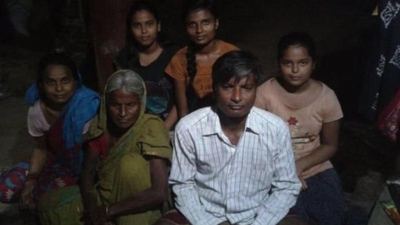 Keluarga petani di India.