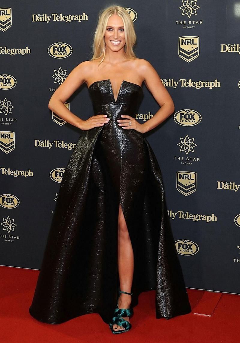 This was Phoebe's first time attending NRL's night of nights as a mother. Source: Getty