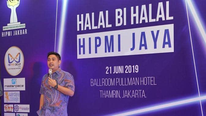 Mardani H Maming menghadiri halal bihalal HIPMI di Jakarta. (Istimewa)
