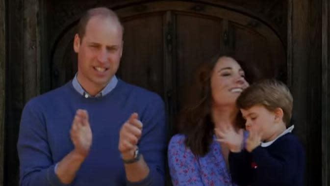Kate Middleton, Pangeran William, dan Pangeran Louis. (dok. Screenshoot Youtube Royal Family Channel/Dinny Mutiah)