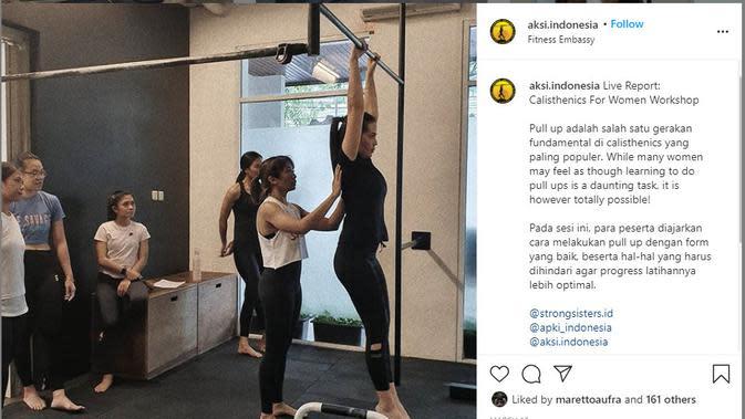 Olahraga kalistenik juga cocok dilakukan oleh kaum wanita (instagram.com/aksi.indonesia)