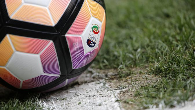 Ilustrasi Logo Serie A. (AFP/Marco Bertorello)