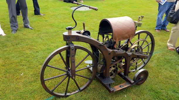 August 29: Gottlieb Daimler patents the first motorcycle on this date in 1885