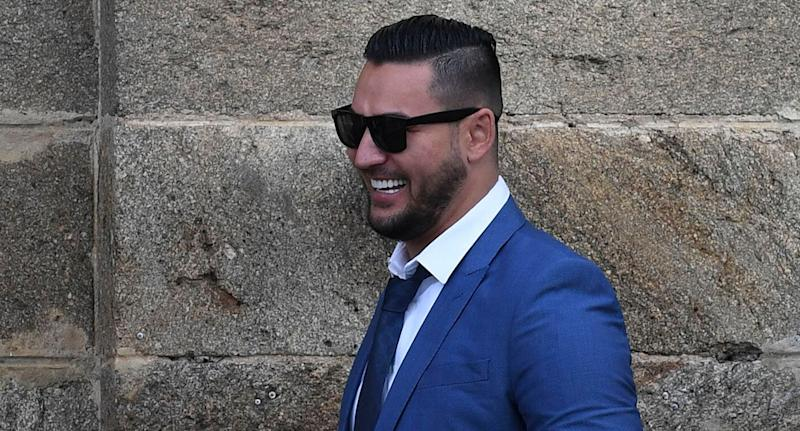 Salim Mehajer is seen as he leaves Cooma Correctional Centre in Cooma, Tuesday, 21 May, 2019. Salim Mehajer walked free from prison after serving an 11-month jail term for electoral fraud (AAP Image/Lukas Coch) NO ARCHIVING