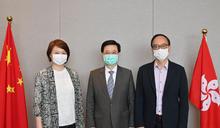 首以司長身分晤立會內委會正副主席 李家超冀與議員緊密合作