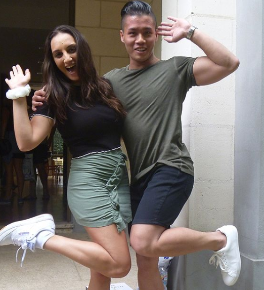 MasterChef Australia contestants Larissa Takchi and Derek Lau were rumoured to be dating
