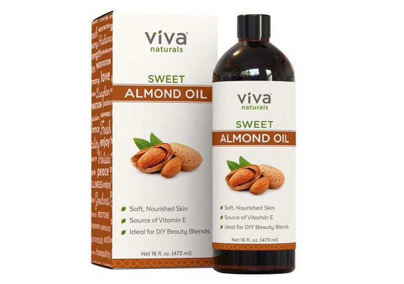 Viva Naturals Sweet Almond Oil. Image via Amazon.