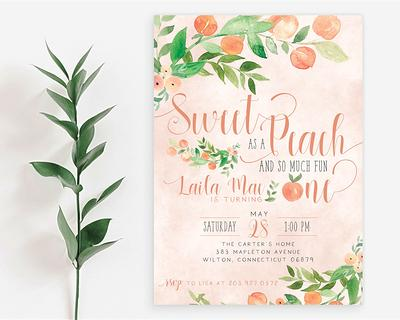 Patricks Day Birthday Time Capsule Gold First 1st Invite Lucky ONE First Birthday Invitation Pink Floral Girl St Digital or Printed Cards
