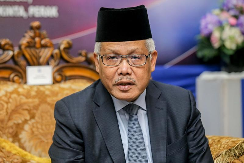Datuk Seri Hamzah Zainudin issued the order to ban the book 'Rebirth: Reformasi, Resistance and Hope in New Malaysia' tonight under the Printing Presses and Publications (Control of Undesirable Publications) Order 2020. ― Picture by Farhan Najib