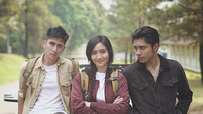 Potret Kompak Persahabatan Verrell, Febby, dan Riza. (Sumber: Instagram.com/rizasyah_14)