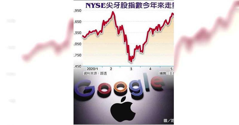 NYSE尖牙股指數今年來走勢