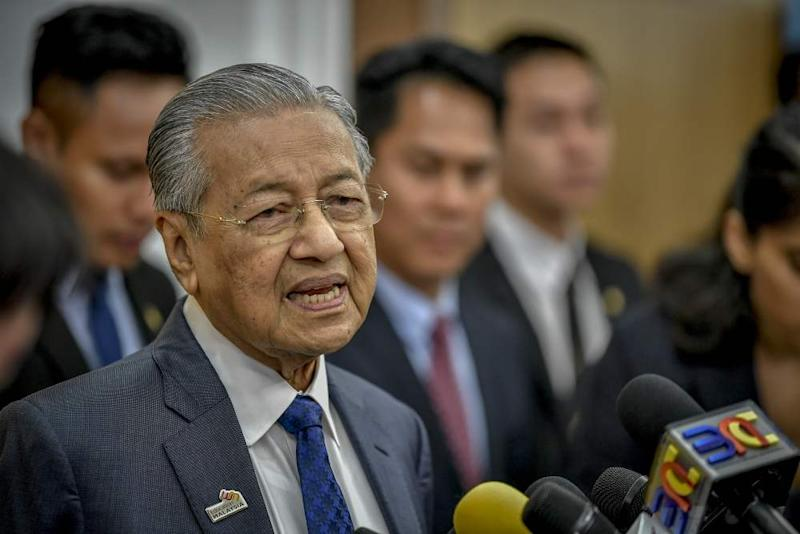 Prime Minister Tun Dr Mahathir Mohamad speaks during a press conference at Parliament in Kuala Lumpur March 12, 2019. ― Picture by Firdaus Latif