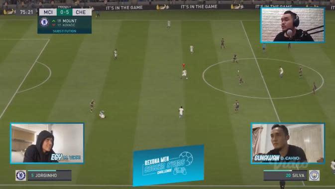 Ilustrasi pertandingan Rexona Men Soccer Stars Challenge.
