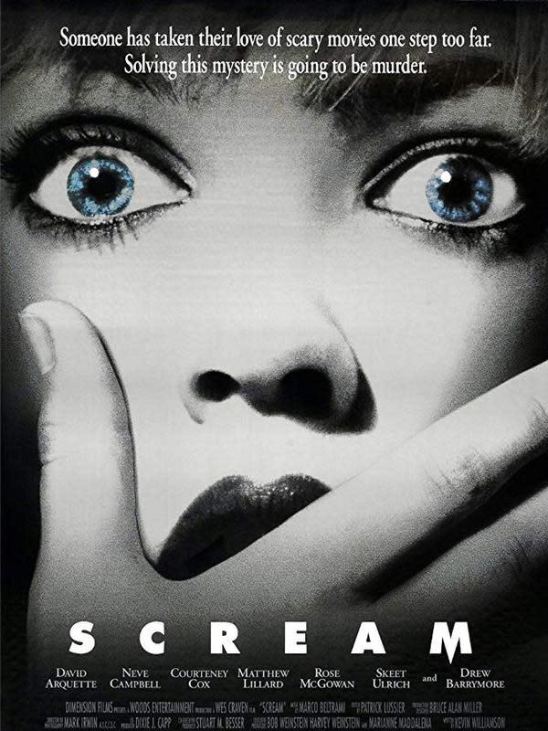 Poster film Scream. (Foto: Dok. IMDb/ Dimension Films)