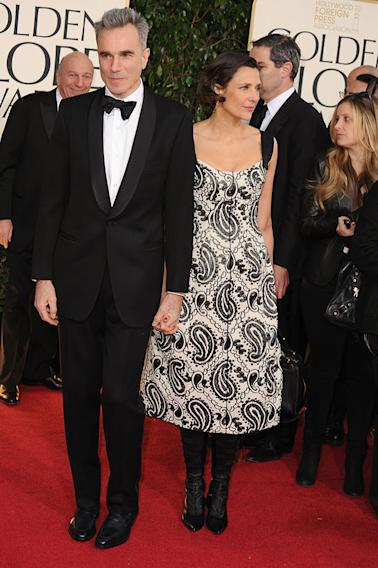70th Annual Golden Globe Awards - Arrivals: Daniel Day-Lewis and Rebecca Miller