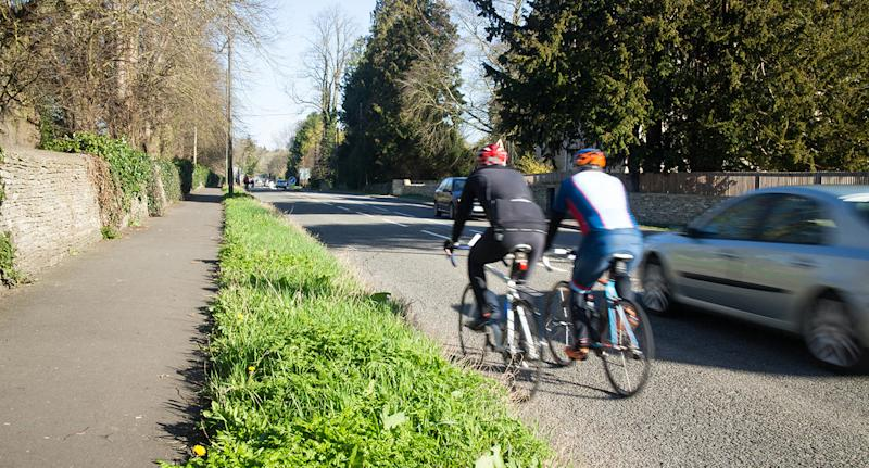 Riding two abreast is encouraged to increase visibility for motorists. Source: Getty, file