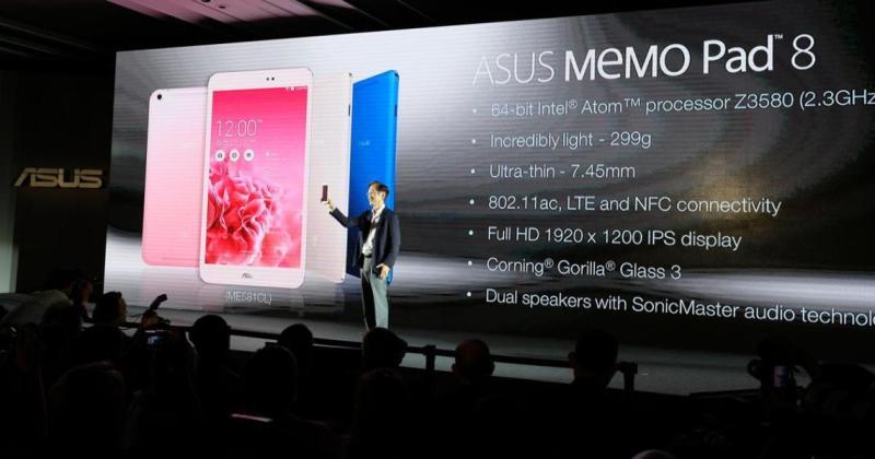 asus memopad 8 1 [Computex 2014] ASUS MEMO Pad dan FonePad: Tablet Ultra Tipis dengan Prosesor 64 bit tablet pc smartphone mobile gadget liputan khusus liputan komputer