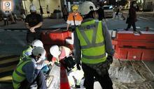 尖沙咀地盤工人掘穿電纜 燒傷手腳送院