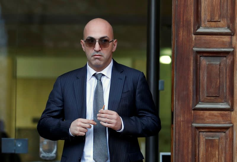 Maltese businessman Yorgen Fenech, who was arrested in connection with an investigation into the murder of journalist Daphne Caruana Galizia, leaves the Courts of Justice in Valletta