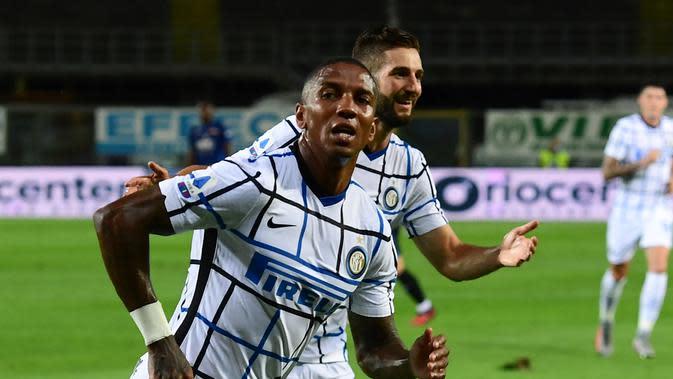 Ashley Young mencetak gol saat Inter Milan kalahkan Atalanta (AFP)