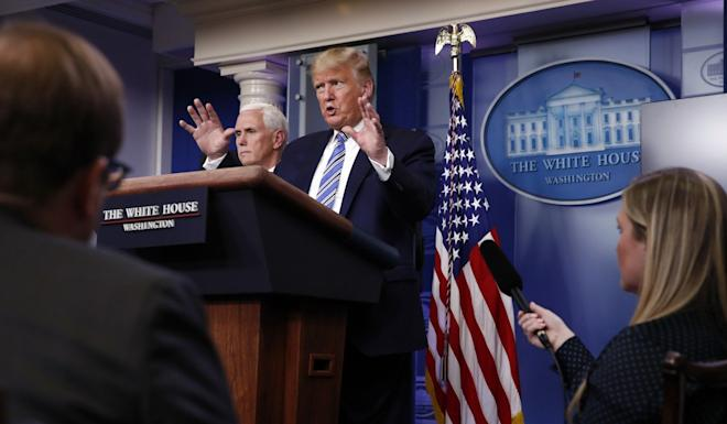 President Donald Trump says US stay-at-home orders will not be a matter of months. Photo: AP