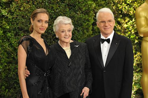 Angelina Jolie, Angela Lansbury and Steve Martin seen on the red carpet at the 2013 Governors Awards, on Saturday, Nov. 16, 2013 in Los Angeles (Photo by John Shearer/Invision/AP)