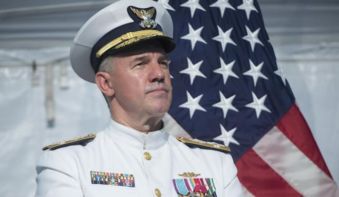 Admiral Karl Schultz is commandant of the US Coast Guard. Photo: AFP