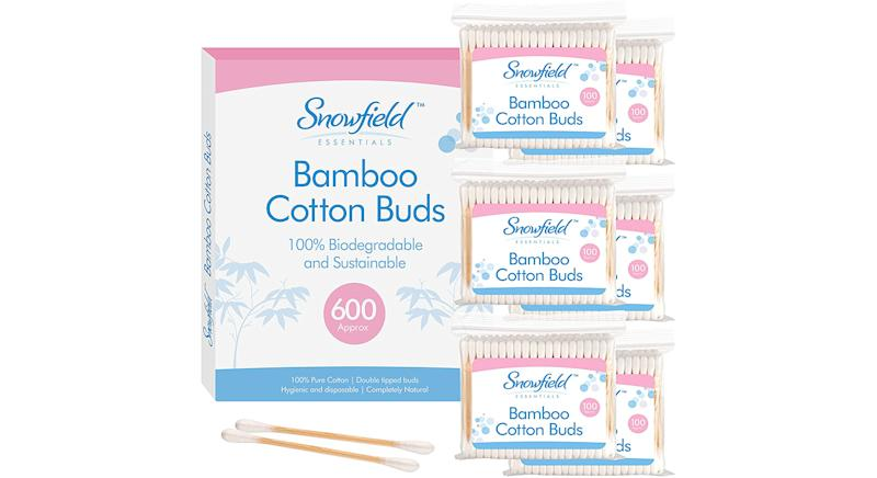 Snowfield 600 pk Bamboo Cotton Buds