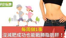 每周做1事,沒減肥成功也能戰勝脂肪肝!