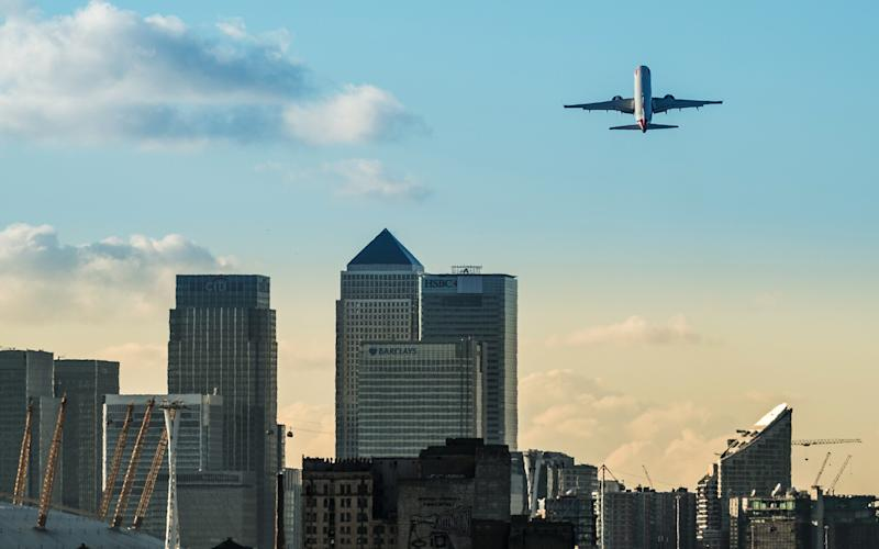 """London's City Airport has been labelled as """"high risk"""" - Getty"""