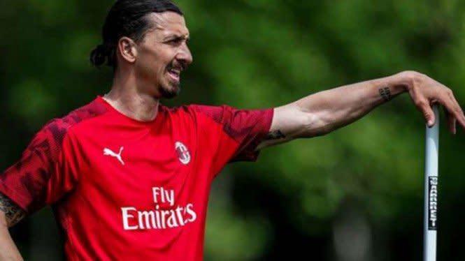 Sembuh dari COVID-19, Ibrahimovic Kembali Berlatih Bersama AC Milan