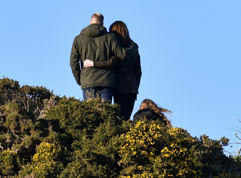 DUBLIN, IRELAND - MARCH 04: (UK OUT FOR 28 DAYS) Prince William, Duke of Cambridge and Catherine, Duchess of Cambridge walk the cliff walk at Howth on March 04, 2020 in Dublin, Ireland. ( (Photo by Tim Rooke/Pool/Samir Hussein/WireImage)