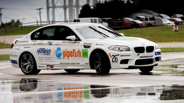 BMW sets world's record for longest drift with a sliding M5
