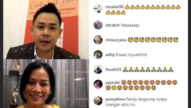 Antusias Mengajar Kelas Menulis, Dee Lestari Lupa Makan dan Berat Badan Turun. (dok.Instagram @semutmerahkaizen/https://www.instagram.com/p/CE4HhotA8xS/Henry)