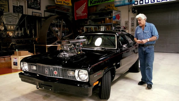 Jay Leno's 1975 Plymouth Duster has a story as powerful as its 1,000-hp engine