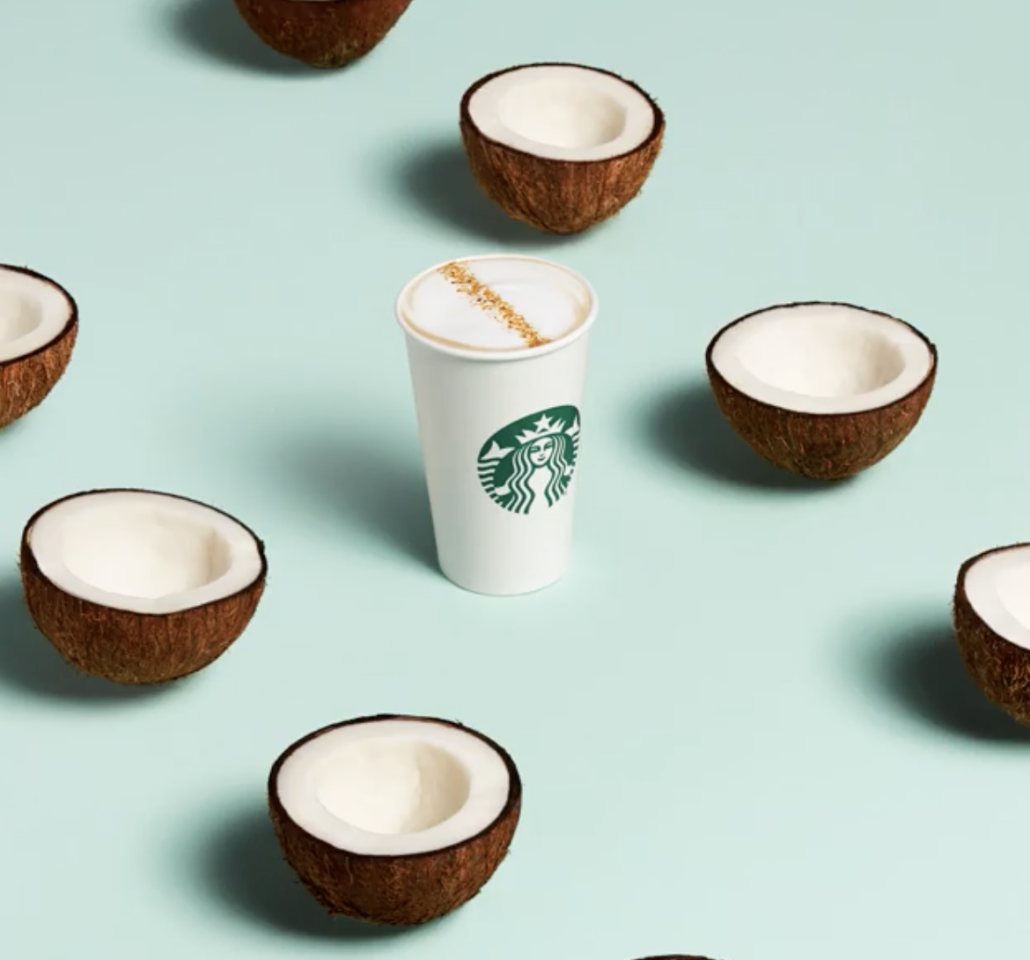 """<p>This latte was introduced in <a href=""""https://www.delish.com/food-news/a30420916/starbucks-plant-based-milks/"""">a grouping of three</a> (with the Almond Milk Honey Flat White and the Oat Milk Honey Latte) earlier this year, but it's by far the most superior of the group. It's light and creamy and tropical in the vaguest sense of the word—a soul-warming delight.</p>"""