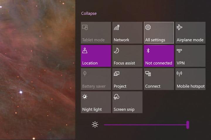 Action Center All Settings
