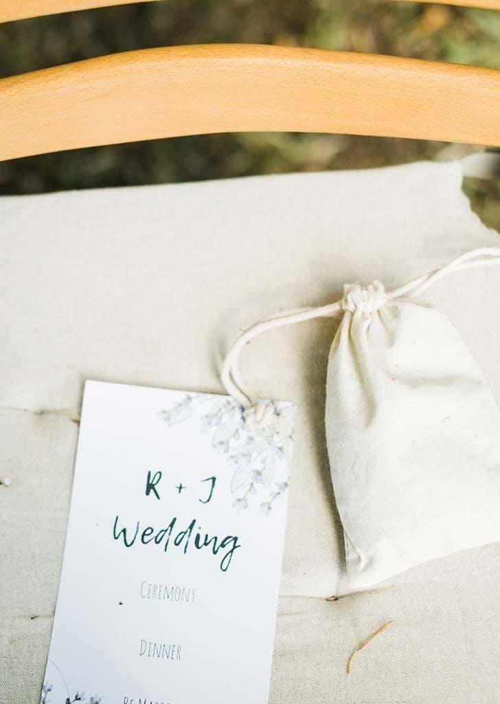 Jenny designed the wedding programs (Danielle Riley Photography)