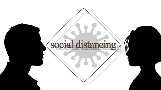 Ilustrasi Social Distancing. (Bola.com/Pixabay)